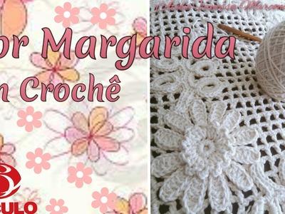 ????Flor Margarida em Crochê para aplicação. Por Vanessa Marcondes .
