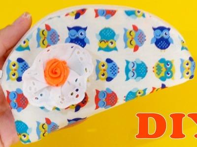 Como Fazer Mini Estojo Necessaire Redonda sem Costura - Artesanato DIY