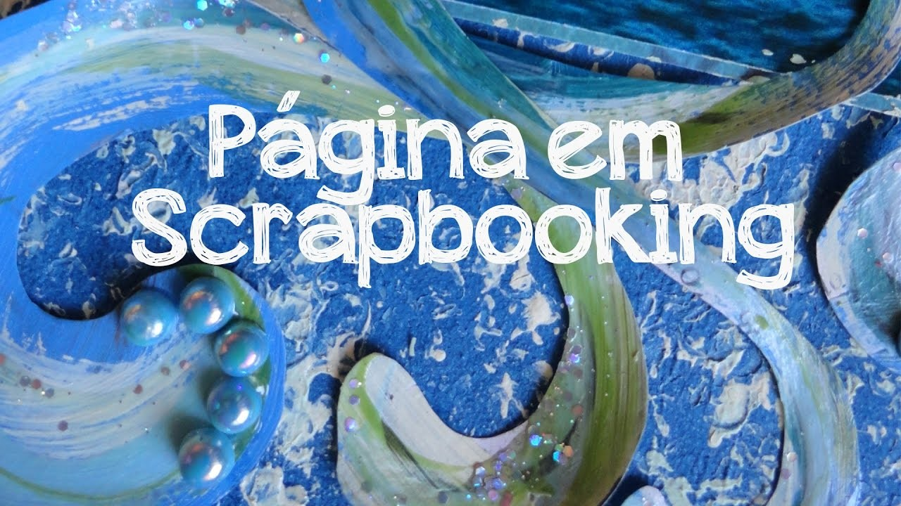 Como fazer Página de Scrapbooking - Cafôfu Ateliê de Arte