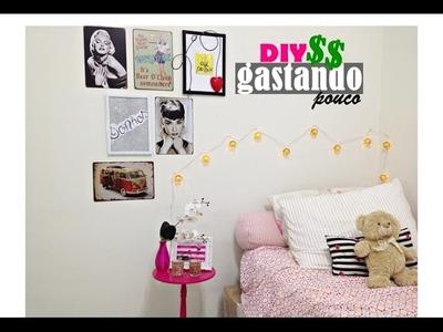 DECORAÇÃO DO QUARTO GASTANDO POUCO - DIY