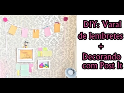 Decorando o Home Office com Post It
