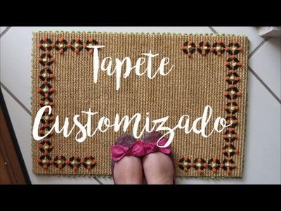 DIY: Capacho Customizado ( cheio de pompons)  por Camila Camargo