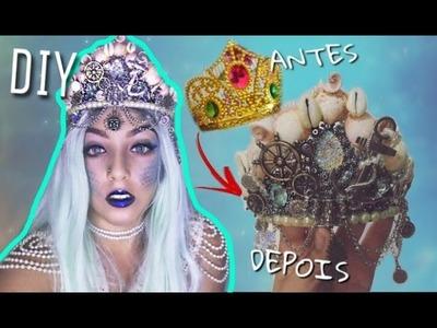 DIY: Como fazer coroa de sereia + maquiagem sereia - Camila Carregal