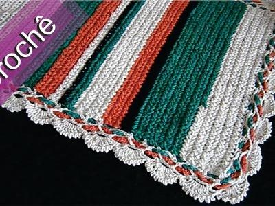 DIY - Crochê - Tapete Meio Ponto Atrás (Passo a Passo) Mari Trentini