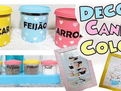 DIY DECOR - 3 IDEIAS DE DECORAÇÃO PARA COZINHA GASTANDO PUCO $ | Candy Color