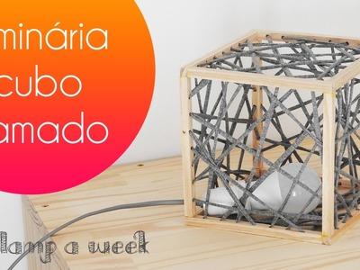 DIY Luminária cubo tramado | one lamp a week #6