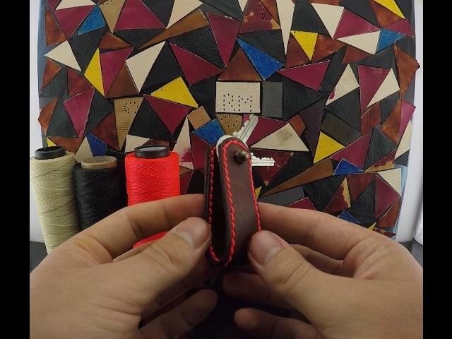 DIY - Porta chaves de couro - Faça você mesmo
