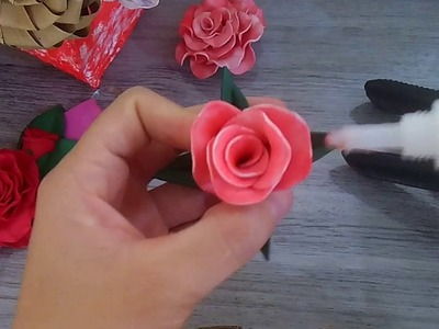 (DIY)Porta pano de prato de rosas em Eva. (lembrancinha dia das mães)