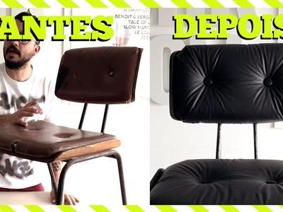 DIY : REFORMAR CADEIRA em casa : PARTE 2 : ACHEI NO LIXO!