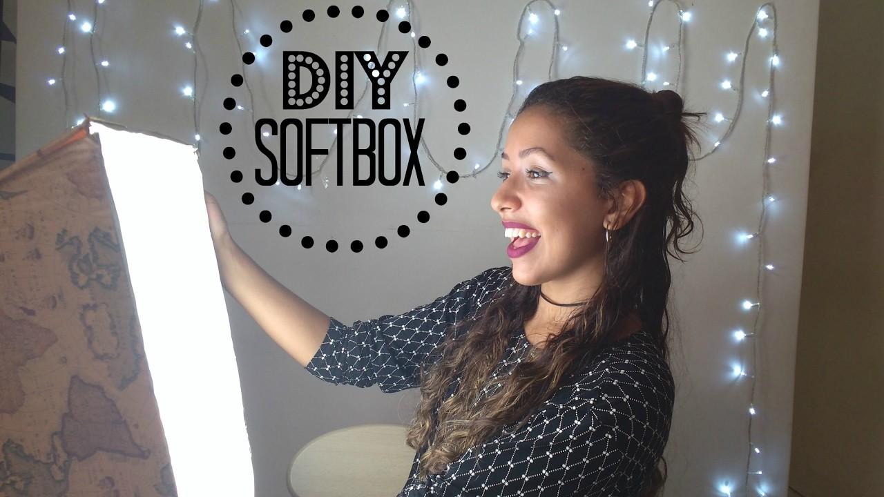 DIY: Softbox Caseira SEM GASTAR QUASE NADA (Iluminação) | PROJETO GIRLS | #YoutubersIniciantes