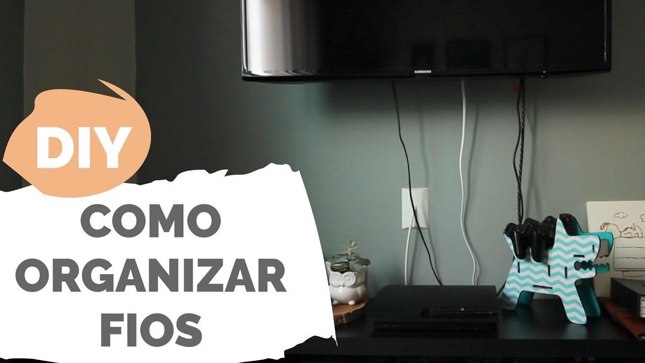 DIY   Solução pra organizar os fios   Por GavetaMix