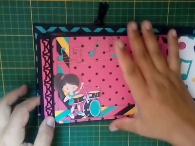 Scrapbooking - Álbum Giovanna - Slide Card - DIY