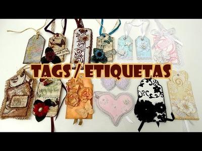 TAGS. Etiquetas ???? 14 Ideias + 3 Tutoriais ( ARTESANATO, DIY, RECICLAGEM )
