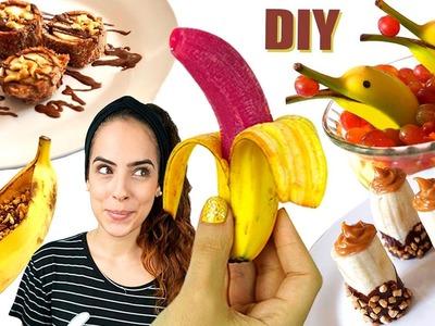 DIY: 5 COMIDINHAS FOFAS com BANANA ???? | Paula Stephânia