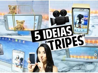 """DIY: 5 IDEIAS INCRÍVEIS DE """"TRIPÉ"""" PARA CELULAR SEM GASTAR NADA !!"""