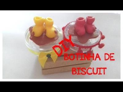 DIY  BOTINHA DA PEPPA DE BISCUIT