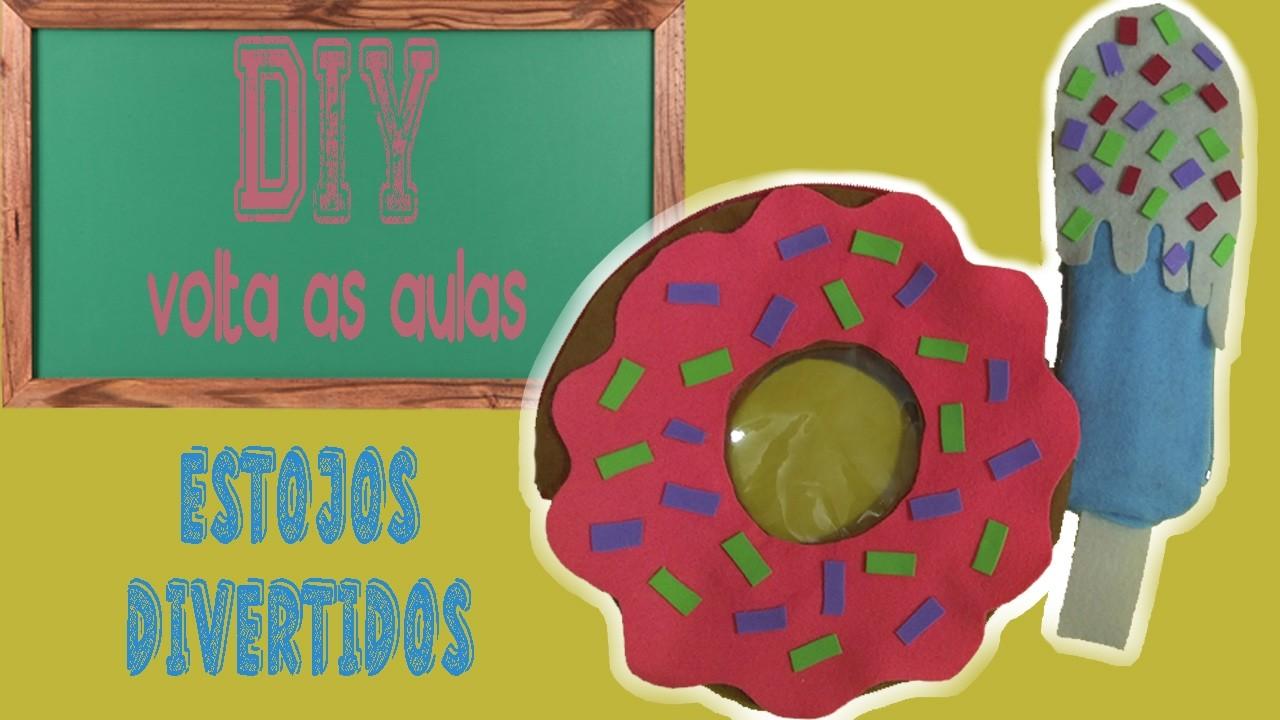 DIY - Estojo Divertido sem Costura (Donut e Picolé)