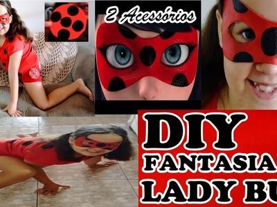 DIY MIRACULOUS LADY BUG fantasia, máscara e a bolsinha.