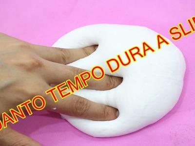 DIY:Quanto Tempo Dura A Slime Em POrtugues!!!