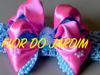 Laço de fita de cetim com volume - DIY  - Satin ribbon bow with