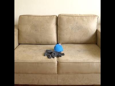 Misturinha caseira para limpar sofá encardido. #DIY #Vix