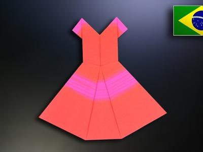 Origami: Vestido - Instruções em Português BR