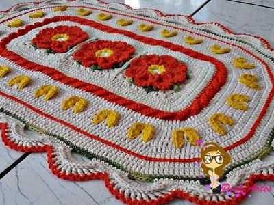 Passo a Passo Tapete Anita com mini borboletas - Pink Artes Croche by Rosana Recchia