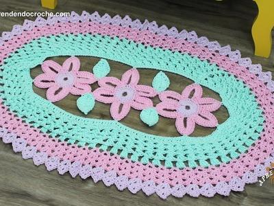 Tapete de Crochê Oval Princesa - Aprendendo Crochê