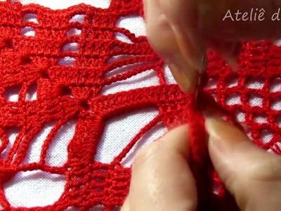 Crochê vermelho parte 2_Red crochet part 2_ganchillo parte roja 2_