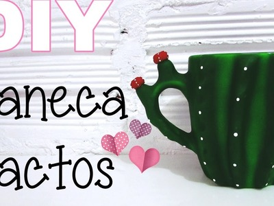 (DIY) Caneca Cactos (Cactus Mug)