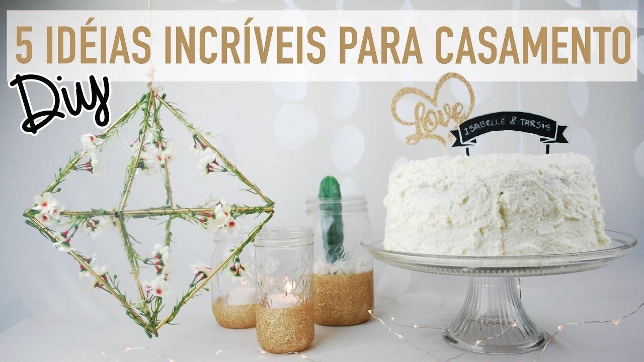 DIY | CASAMENTO: Decoração Baratinha e Topos de bolo! Por Isabelle Verona