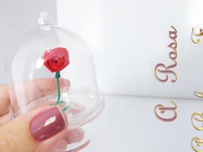DIY - Como fazer uma mini Rosa Encantada da A Bela e a Fera de papel