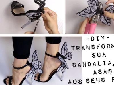 DIY: Dê asas aos seus pés com essa customização inspirada nas criações de Sophia Webster