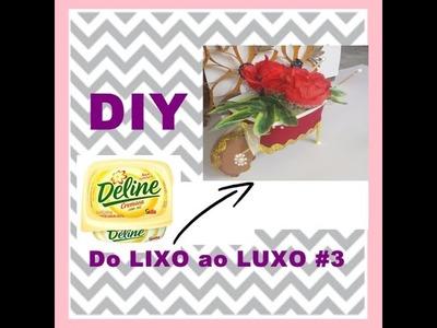 DIY do LIXO ao LUXO#Carro de Mão feito com Pote Margarina