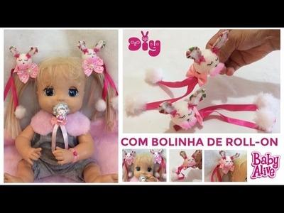 DIY- PREDENDOR DE CABELO ESTILO LOLITA -Kawaii - BABY ALIVE - Risoleta