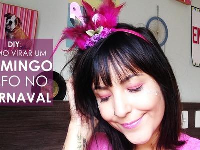 DIY: tiara de flamingo fácil - e linda - para o Carnaval!   Mari Pedroso