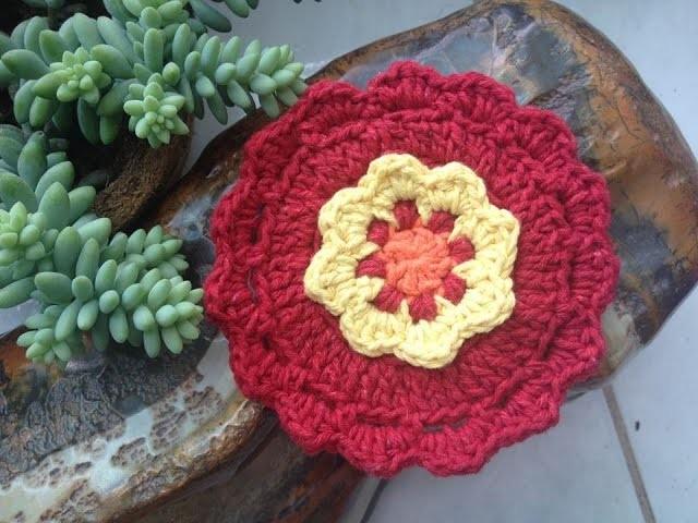 Flor #2 crochê. Flower #2 crochet - Professora Maria Rita
