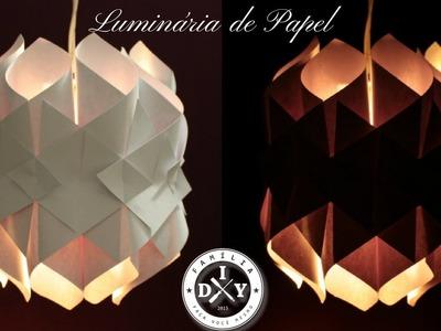 LUMINÁRIA DE PAPEL   LUZES DA CATEDRAL - Cathedral light | paper lamp