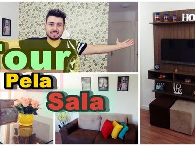 Rike Tv |  TOUR PELA SALA  +   Detalhes da Da decoração.