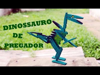 Artesanato  - Dinossauros com pregador de roupas - Arte com palitos decoração