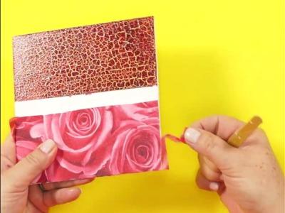 """DIY - Caixa """"Rosas"""" em Craquelê e Decoupage"""
