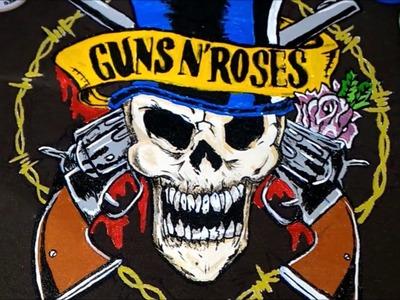 DIY: Customização: camisa guns n roses
