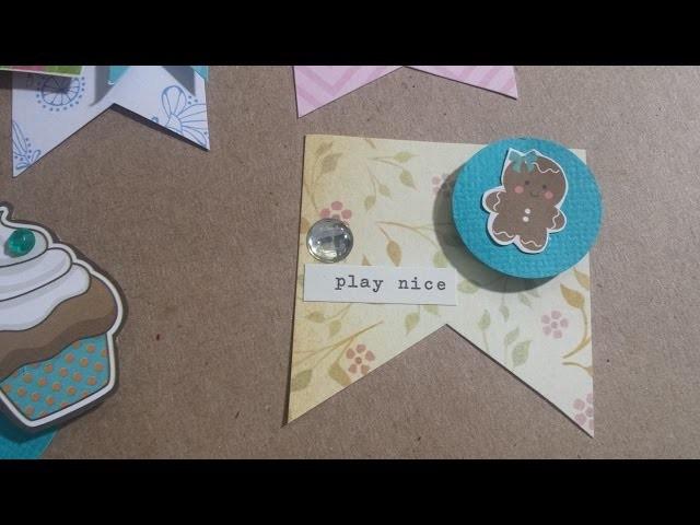 DIY Embellishment, decoração para scrapbook