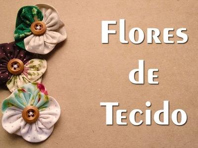 DIY - Flores em tecido - Passo a Passo - Vapt Vupt