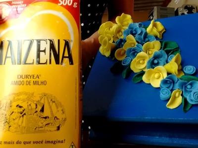 DIY ;Flores fácil de fazer com massa caseira de maizena