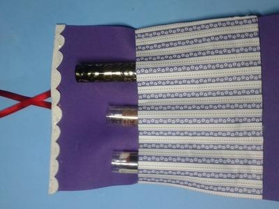 DIY: lembrança porta treco feminino. porta batom ou kit higiene