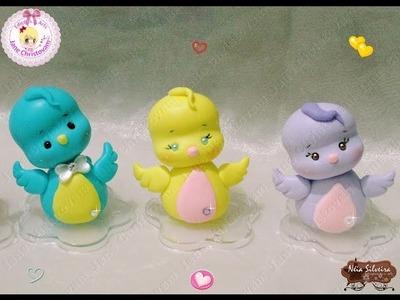 DIY- LEMBRANCINHAS PASSARINHO FOFO EM BISCUIT FEITO NO MOLDE ???????????? (Little bird cake)
