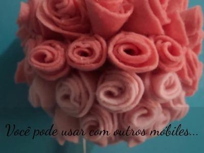 DIY - Móbile flores em feltro