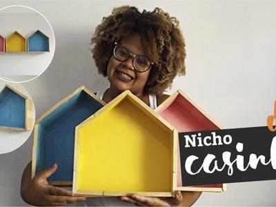 DIY Nicho CASINHA com palito de picolé
