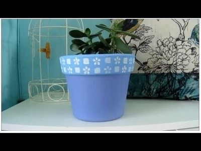 DIY- Pintando um vaso de cerâmica